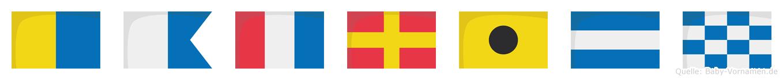 Katrijn im Flaggenalphabet