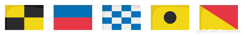 Lenio im Flaggenalphabet