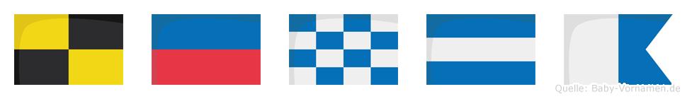 Lenja im Flaggenalphabet
