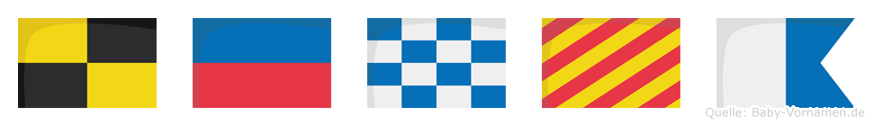 Lenya im Flaggenalphabet