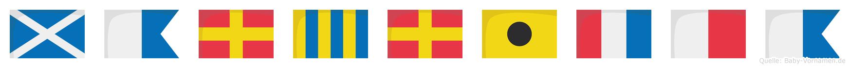 Margritha im Flaggenalphabet