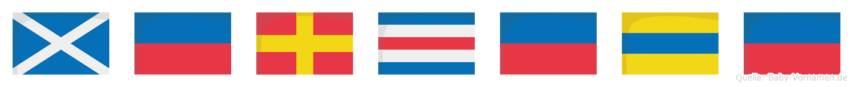 Mercede im Flaggenalphabet