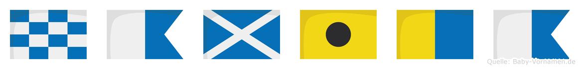 Namika im Flaggenalphabet