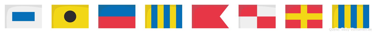 Siegburg im Flaggenalphabet