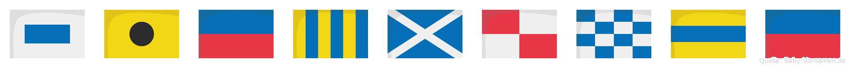 Siegmunde im Flaggenalphabet
