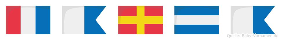 Tarja im Flaggenalphabet