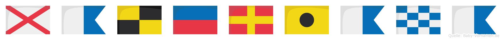 Valeriana im Flaggenalphabet