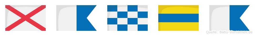 Vanda im Flaggenalphabet