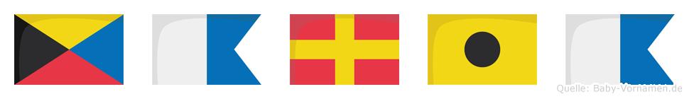 Zaria im Flaggenalphabet