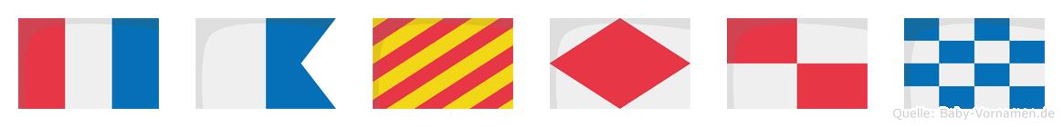 Tayfun im Flaggenalphabet