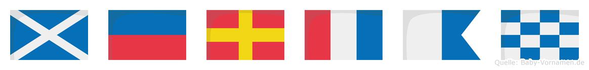 Mertan im Flaggenalphabet