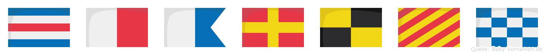Charlyn im Flaggenalphabet