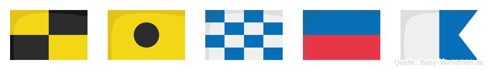 Linea im Flaggenalphabet