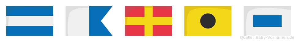 Jaris im Flaggenalphabet