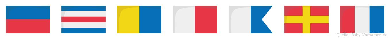 Eckhart im Flaggenalphabet