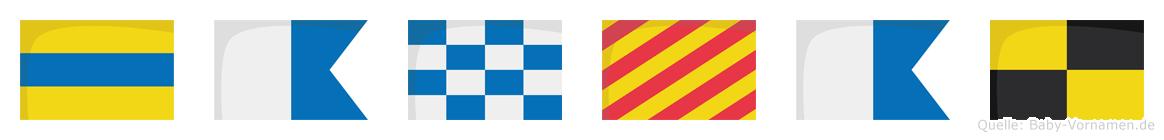 Danyal im Flaggenalphabet