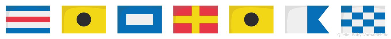 Ciprian im Flaggenalphabet