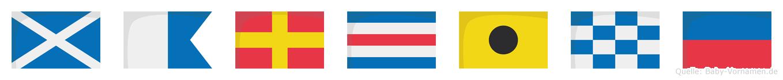 Marcine im Flaggenalphabet