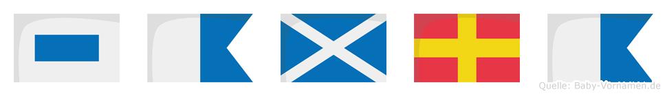 Samra im Flaggenalphabet