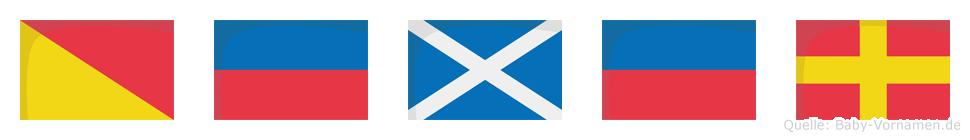 Ömer im Flaggenalphabet