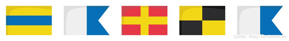 Darla im Flaggenalphabet