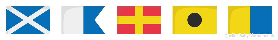 Marik im Flaggenalphabet