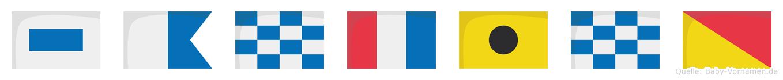 Santino im Flaggenalphabet