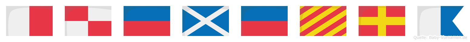 Hümeyra im Flaggenalphabet