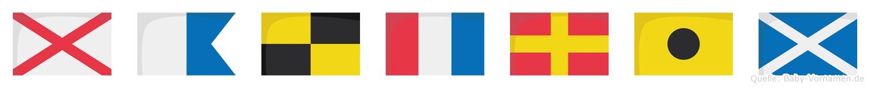 Valtrim im Flaggenalphabet
