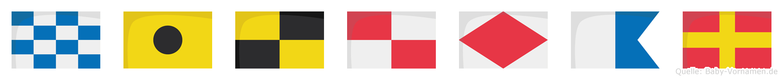 Nilufar im Flaggenalphabet