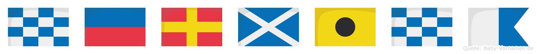 Nermina im Flaggenalphabet