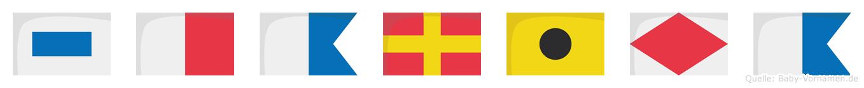 Sharifa im Flaggenalphabet