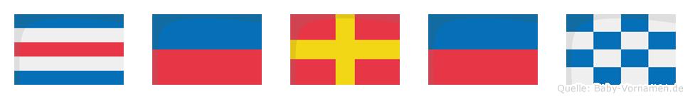 Ceren im Flaggenalphabet