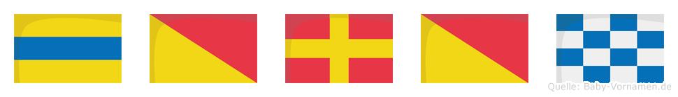 Doron im Flaggenalphabet