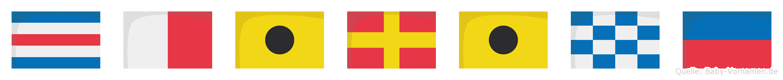 Chirine im Flaggenalphabet