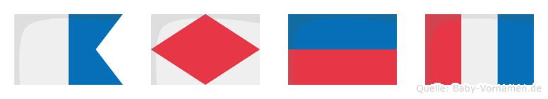 Afet im Flaggenalphabet