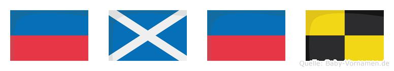 Emel im Flaggenalphabet