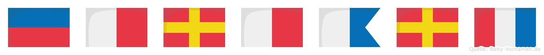 Ehrhart im Flaggenalphabet