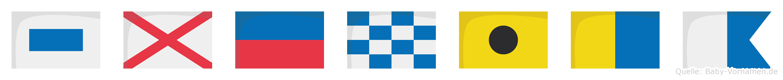 Svenika im Flaggenalphabet
