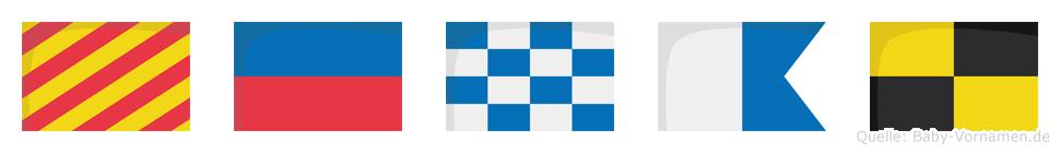 Yenal im Flaggenalphabet