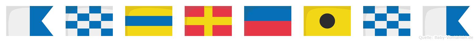 Andreina im Flaggenalphabet