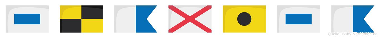 Slavisa im Flaggenalphabet