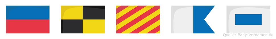 Elyas im Flaggenalphabet