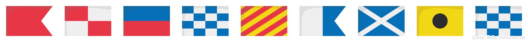 Bünyamin im Flaggenalphabet