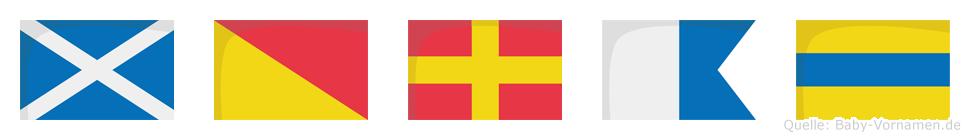 Morad im Flaggenalphabet