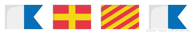 Arya im Flaggenalphabet