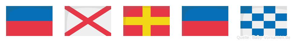 Evren im Flaggenalphabet