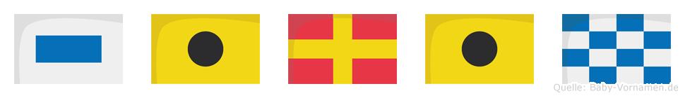 Sirin im Flaggenalphabet