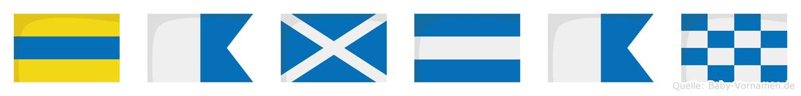 Damjan im Flaggenalphabet