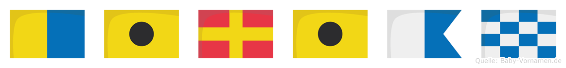 Kirian im Flaggenalphabet